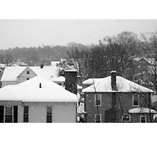 Snowy Buildings Photographic Print