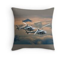 Dancing Whirly Birds Throw Pillow