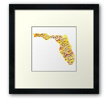 Florida – the Sunshine State Framed Print