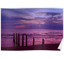 Sauble Beach at Dusk Poster
