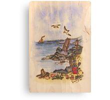 enjoying the seaside Canvas Print