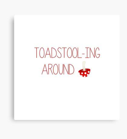 Toadstool fun  Canvas Print