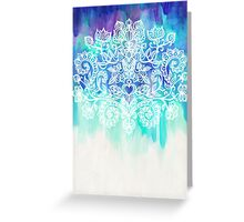 Indigo & Aqua Abstract Greeting Card