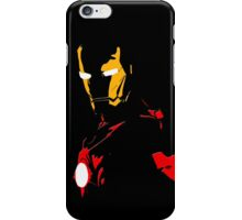 The Avengers - Iron Man Minimal Figure Black Background iPhone Case/Skin