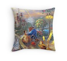 Beauty and the Beast - All Characters Cool Throw Pillow