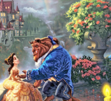 Beauty and the Beast - All Characters Cool Sticker
