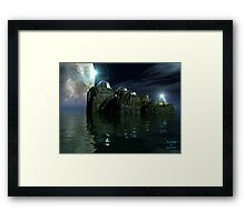 Moon Rings Framed Print