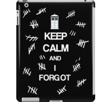 Doctor Who - Keep Calm and I Forgot (The Silence) iPad Case/Skin