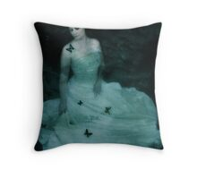 Dreaming Woman Throw Pillow