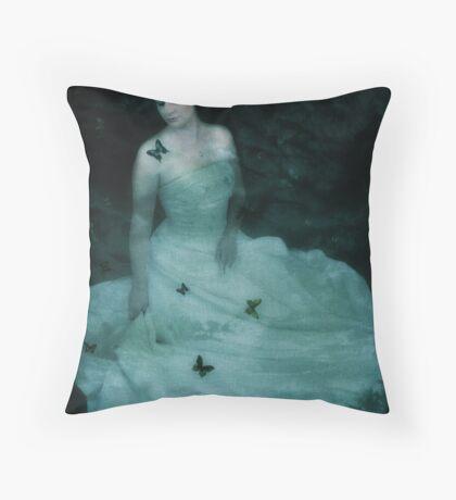 Dreaming Woman Throw Pillow