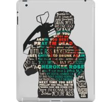 The Walking Dead - Daryl Silhouette Quotes iPad Case/Skin