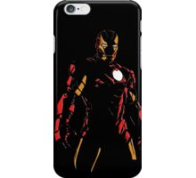 The Avengers - Iron Man Minimal Figure Black Background (2) iPhone Case/Skin