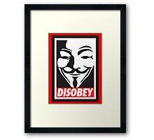 Disobey V for Vendetta Framed Print