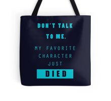 Nerd - Don't Talk to Me Tote Bag