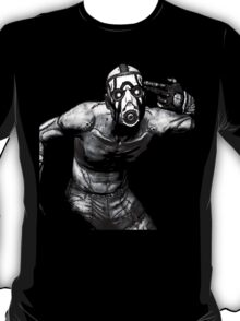 Borderlands - Psycho Black and White (2) T-Shirt