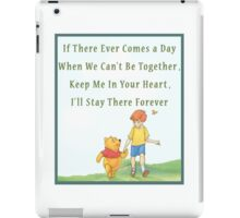 Winnie the Pooh - Firendship Quote  iPad Case/Skin