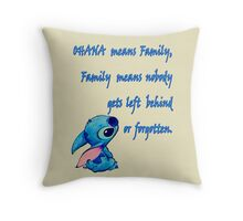 Lilo & Stitch - Ohana Family Quote (2) Throw Pillow