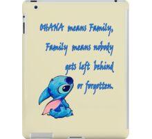 Lilo & Stitch - Ohana Family Quote (2) iPad Case/Skin