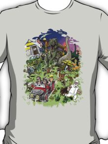 Jurassic Park - All Characters Design T-Shirt