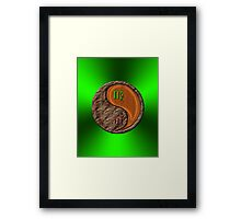 Virgo & Tiger Yang Wood Framed Print