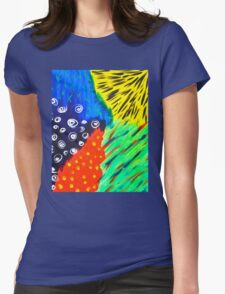 Abstract Attack Womens Fitted T-Shirt