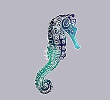 Seahorse on grey by catmilchard