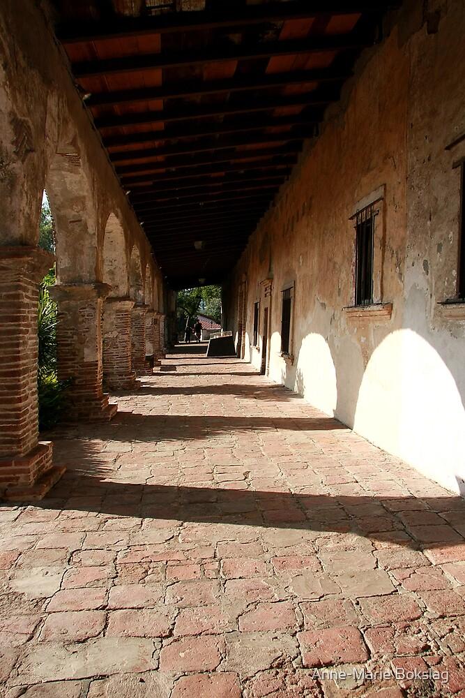 Old Mission San Juan Capistrano by Anne-Marie Bokslag
