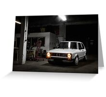 Volkswagen Golf GTI MK1 Greeting Card