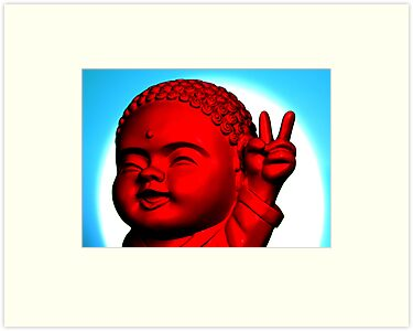 Peace Buddha by Sarah Crowe