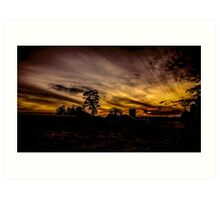 Silverdale Sunset (5) NSW, Australia Art Print
