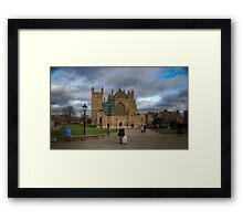 Exeter City Centre: Exeter Cathedral Stormy Day UK Framed Print