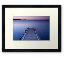 Dawn on the jetty Framed Print
