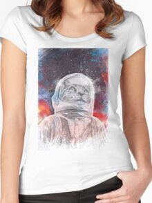 Space_Cat Women's Fitted Scoop T-Shirt