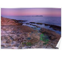 A mediterranean purple dusk Poster