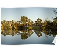 River Murray at sunset Poster