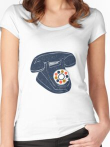 Retro Telephone Women's Fitted Scoop T-Shirt