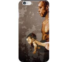 FATHER and SON - urban ART - mirror version iPhone Case/Skin