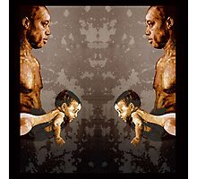 FATHER and SON - urban ART - mirror version Photographic Print