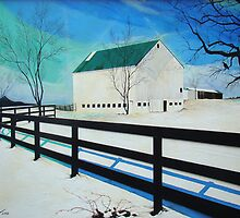 Barn in ther snow by Mudassir
