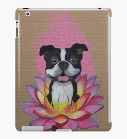 Zen Boston Terrier - Lotus Flower iPad Case/Skin