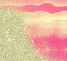 Pink Watercolor and Faux Glitter Mash by ChicPink