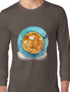 hearts and coffee Long Sleeve T-Shirt