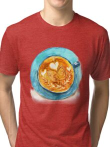 hearts and coffee Tri-blend T-Shirt