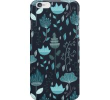 Frozen Flowers Pattern iPhone Case/Skin
