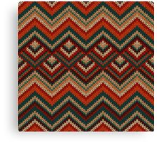 Knitted pattern Canvas Print