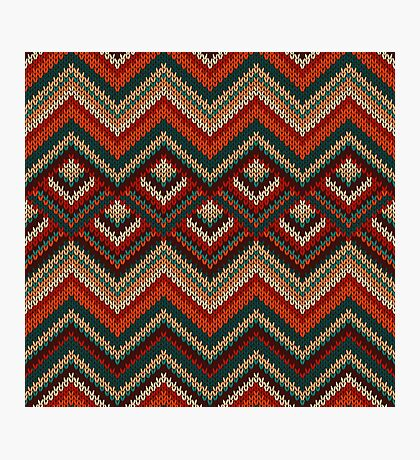 Knitted pattern Photographic Print