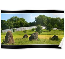 Stone circle meadow Poster