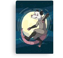 Opossum In Space Canvas Print