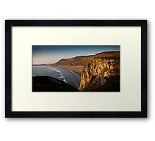 Rhossili bay Gower Framed Print
