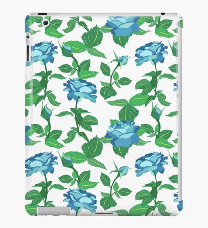 Exotic blue roses iPad Case/Skin